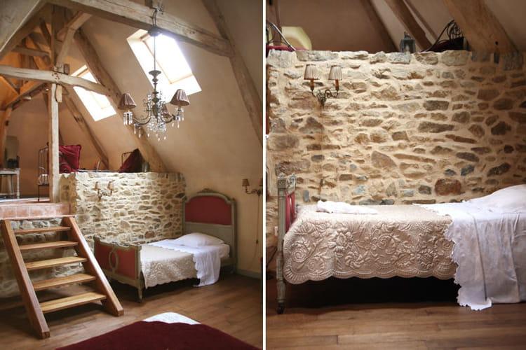 murs de pierre et poutres apparentes. Black Bedroom Furniture Sets. Home Design Ideas