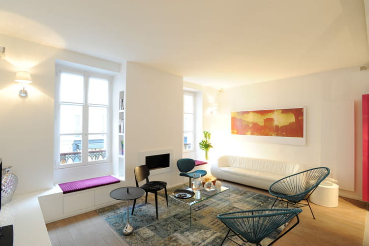 Appartement à la déco douce et intemporelle salon