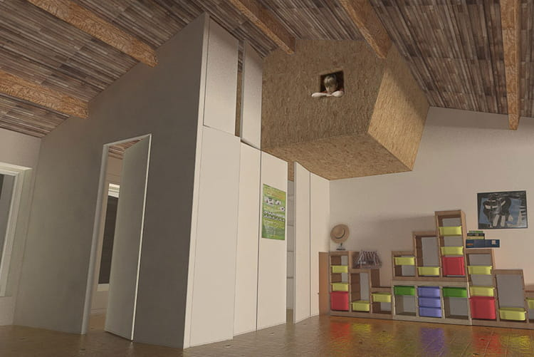 une cabane dans une chambre d 39 enfant. Black Bedroom Furniture Sets. Home Design Ideas