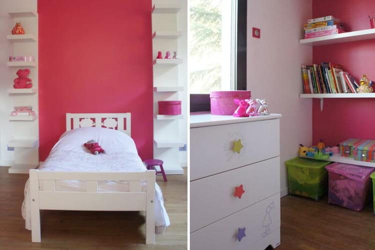 Chambre de fille moderne for Peinture chambre bebe fille