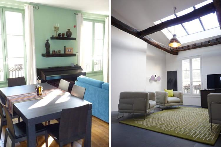 m tamorphose d 39 un appartement sous les toits journal des femmes. Black Bedroom Furniture Sets. Home Design Ideas
