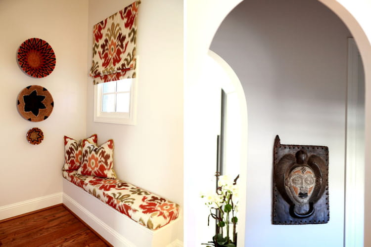 coin lecture ethnique chic avant apr s nouveau look pour une maison am ricaine journal des. Black Bedroom Furniture Sets. Home Design Ideas