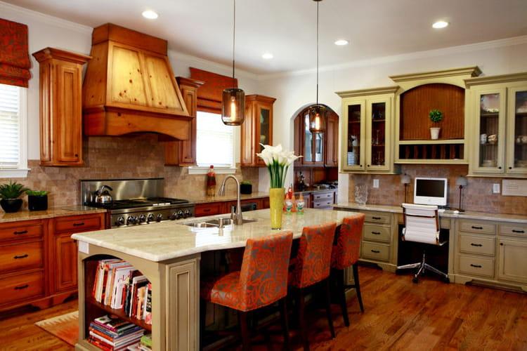 cuisine avec lot typiquement am ricaine. Black Bedroom Furniture Sets. Home Design Ideas