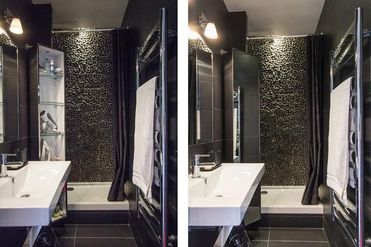 Une salle de bains noire avant apr s la renaissance d for Salle de bain etroite