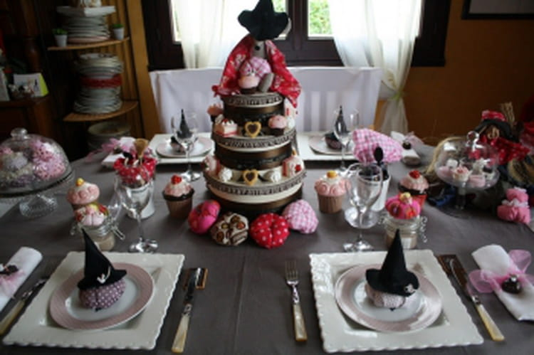 une sweet table d 39 halloween. Black Bedroom Furniture Sets. Home Design Ideas