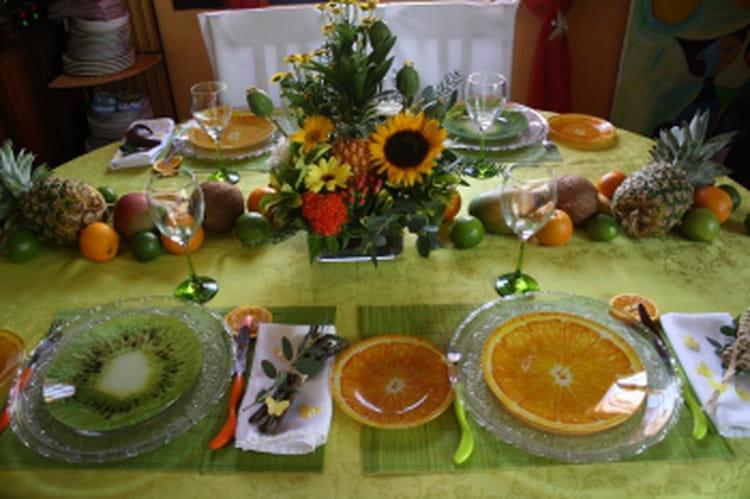 Une d co de table exotique - Deco table exotique ...