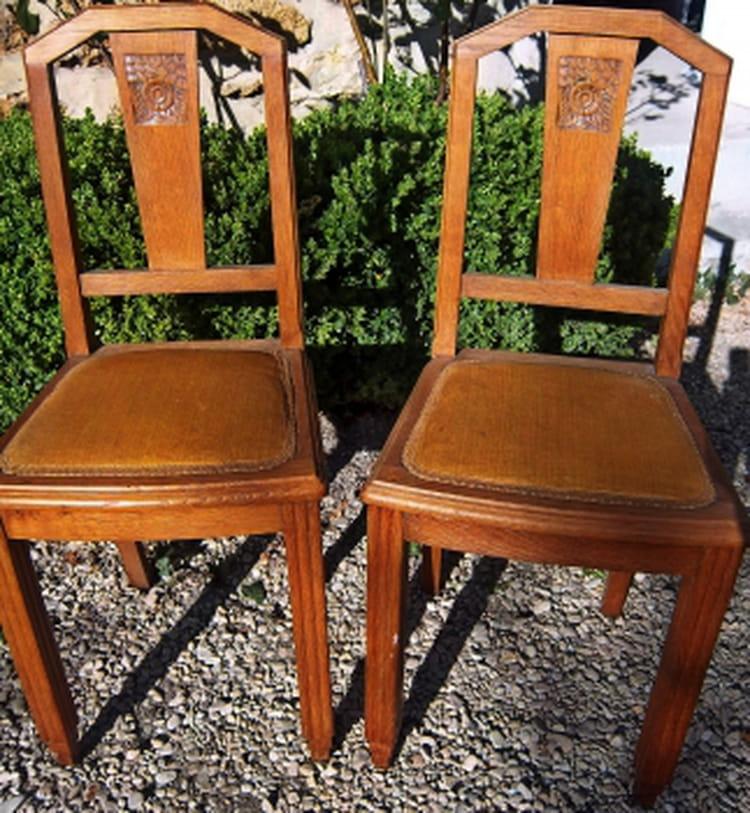 relooker des chaises ann es 1940. Black Bedroom Furniture Sets. Home Design Ideas