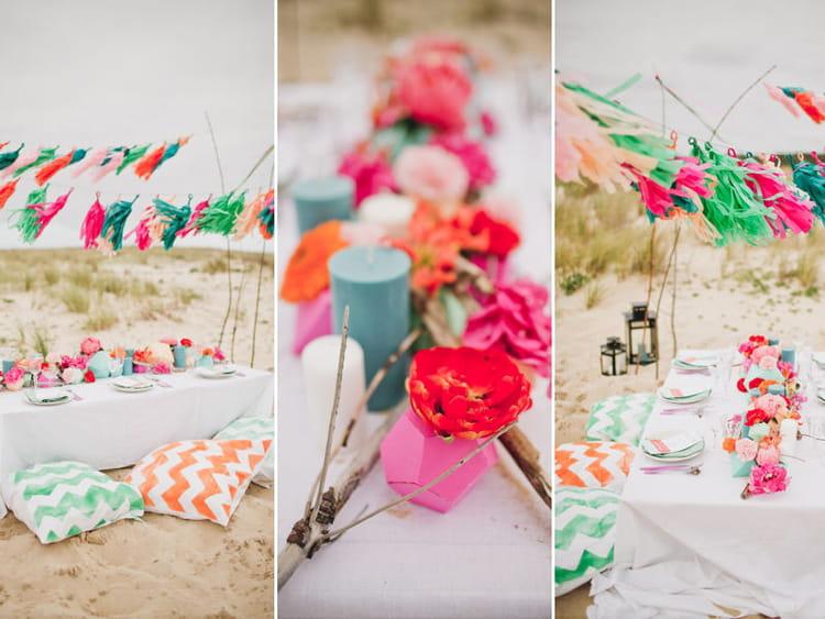 Decoration Table Plage : La décoration de table un mariage sur