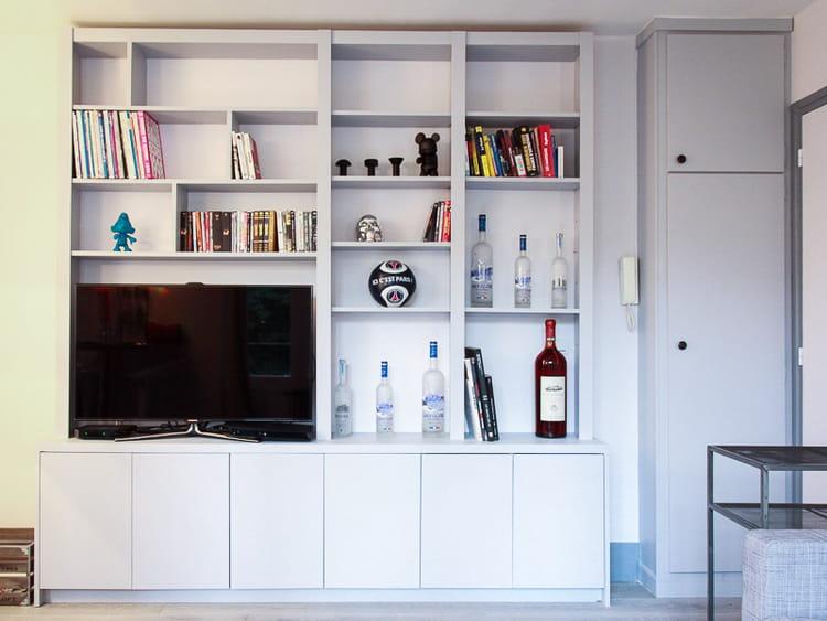 un meuble sur mesure dans le salon avant apr s un. Black Bedroom Furniture Sets. Home Design Ideas