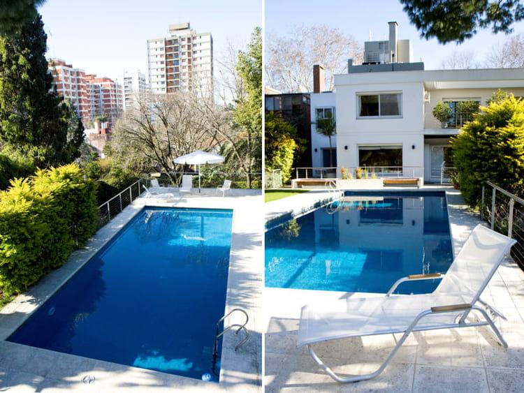 la piscine au c ur du jardin une maison avec piscine en argentine journal des femmes. Black Bedroom Furniture Sets. Home Design Ideas