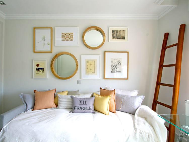 echelle bois d co. Black Bedroom Furniture Sets. Home Design Ideas