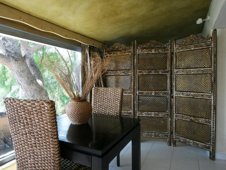 Idee Salle De Bain Avec Douche Et Baignoire : Chambre En Bois Exotique