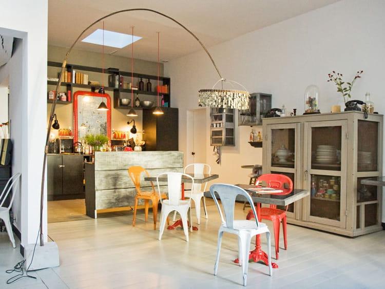 Une cuisine ouverte r cup 39 et vintage for Cuisine ouverte originale