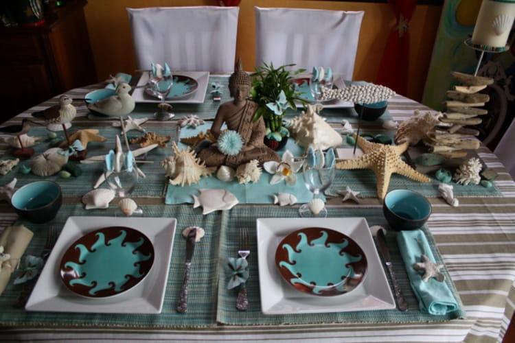 D co de table zen et bord de mer - Deco table bord de mer ...