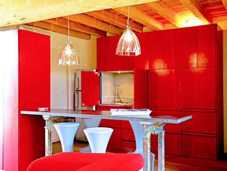 Decoration Chambre Petite Fille Ikea : Une cuisine apparat rouge mat  Des cuisines rouge passion, tendance