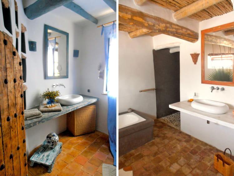 Salles de bains maison entre charme et tradition au maroc journal des femmes for Salle de bain de charme