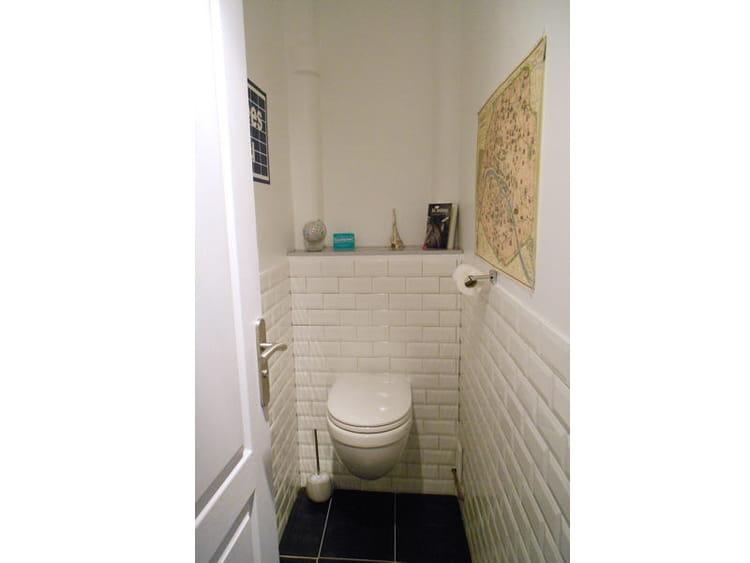 L 39 espace wc r am nag visitez la maison d 39 emilie for Modele carrelage wc