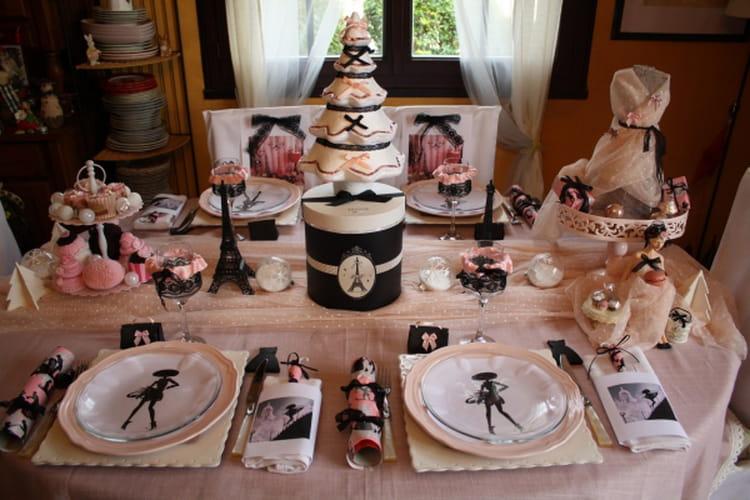 Une table de no l chic et glamour - Table de noel chic ...