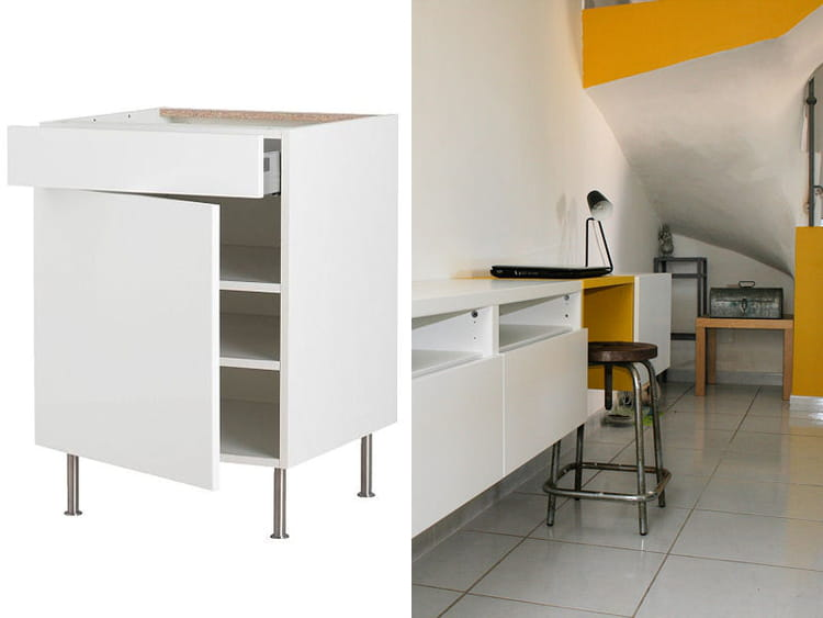 Table rabattable cuisine paris ikea meuble de bureau for Bureau meuble cuisine