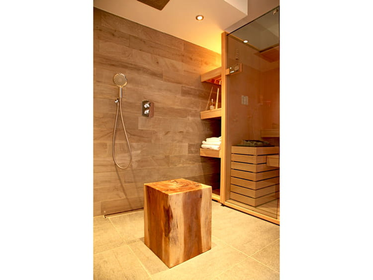 tuyaux cabine douche hammam luxe bois. Black Bedroom Furniture Sets. Home Design Ideas