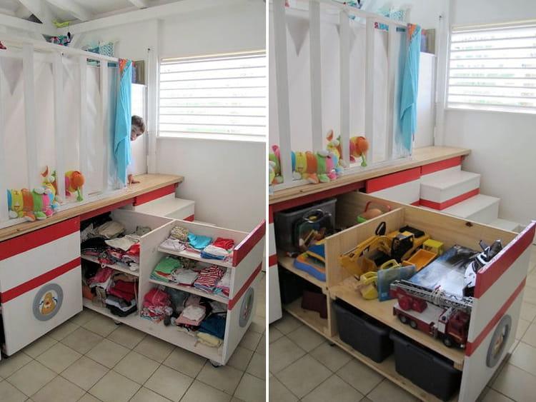 une chambre deux enfants il y a de l 39 astuce dans vos rangements journal des femmes. Black Bedroom Furniture Sets. Home Design Ideas