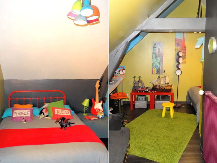 Chambre d 39 enfant color e for Chambre enfant coloree