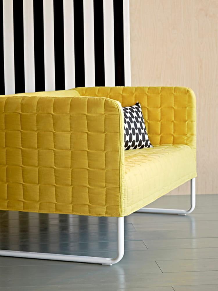 Canap graphique ikea la nouvelle collection qui vous for Canape jaune ikea