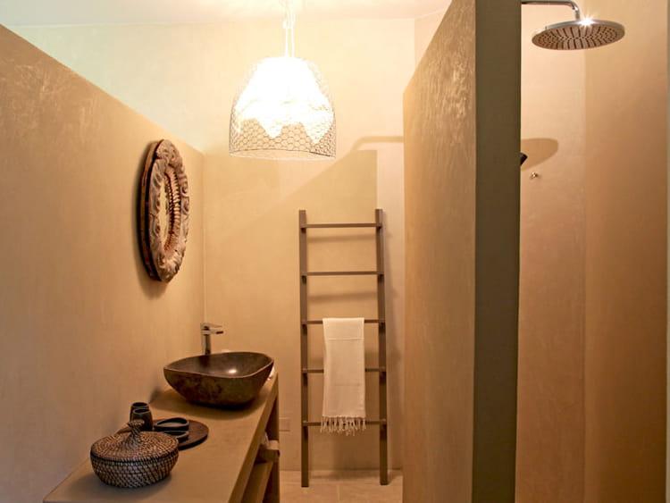 Echelle d corative accessoiriser sa salle de bains comme - Echelle decorative pour plantes ...