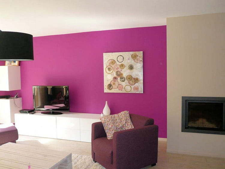 apr s un salon color avant apr s un s jour m tamorphos en rose et violet journal des. Black Bedroom Furniture Sets. Home Design Ideas