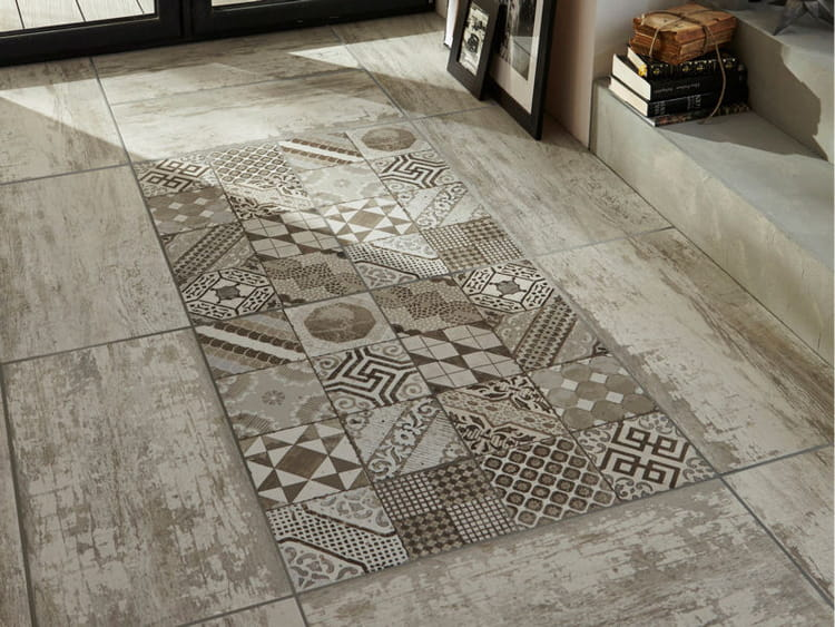 Gr s c rame fa on carreaux de ciment par lapeyre on se for Carrelage interieur 50x50