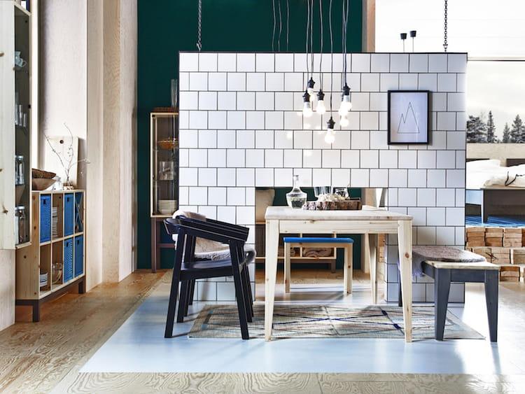 Ikea Table Cuisine Bois : Cuisine Bois Brut Ikea: Table bois m if ikea dans ille de cuisine