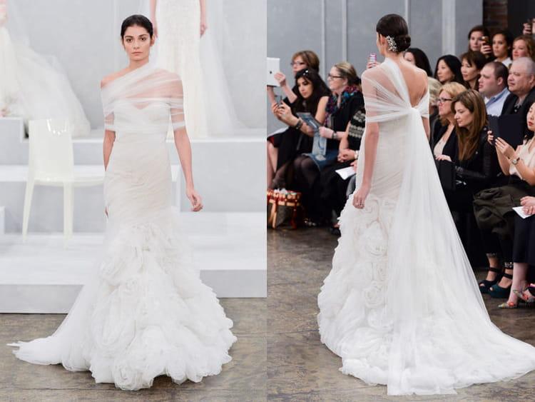 La robe chic de monique lhuillier bridal fashion week de for Monique lhuillier robes de mariage