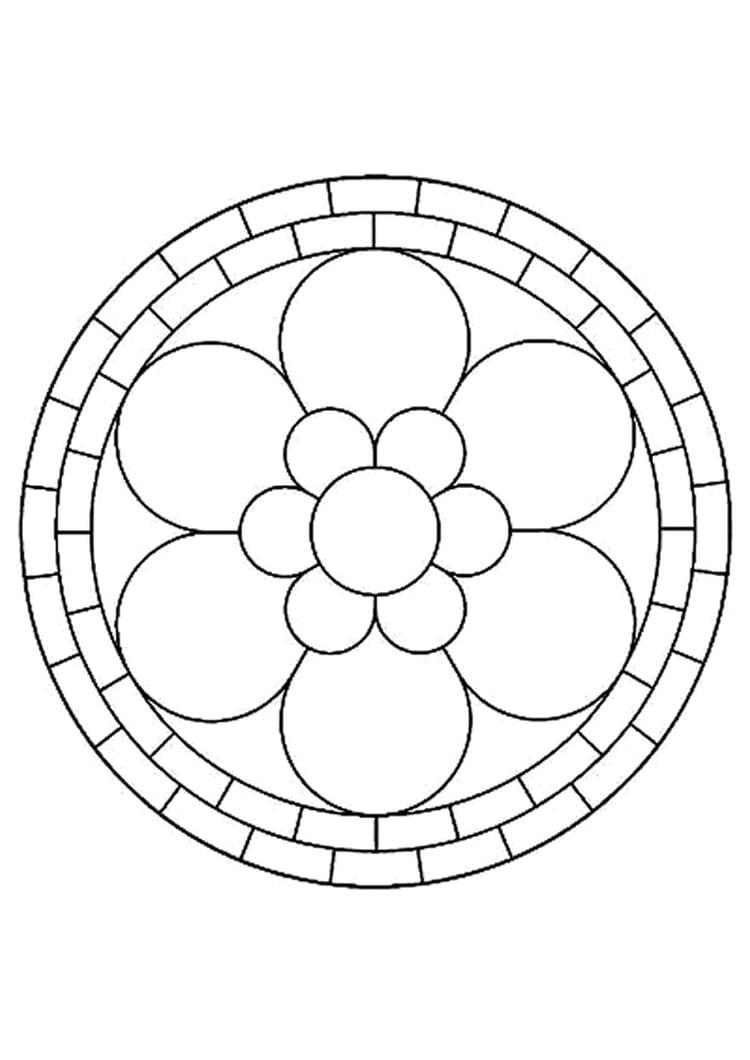 Mandala fleur 12 coloriages pour occuper les enfants journal des femmes - Mandala facile ...