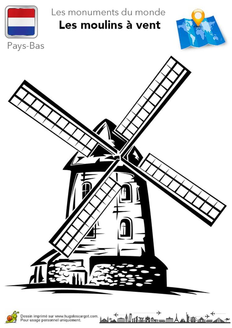 Moulin vent voyageur 12 coloriages pour occuper les - Dessiner le vent ...
