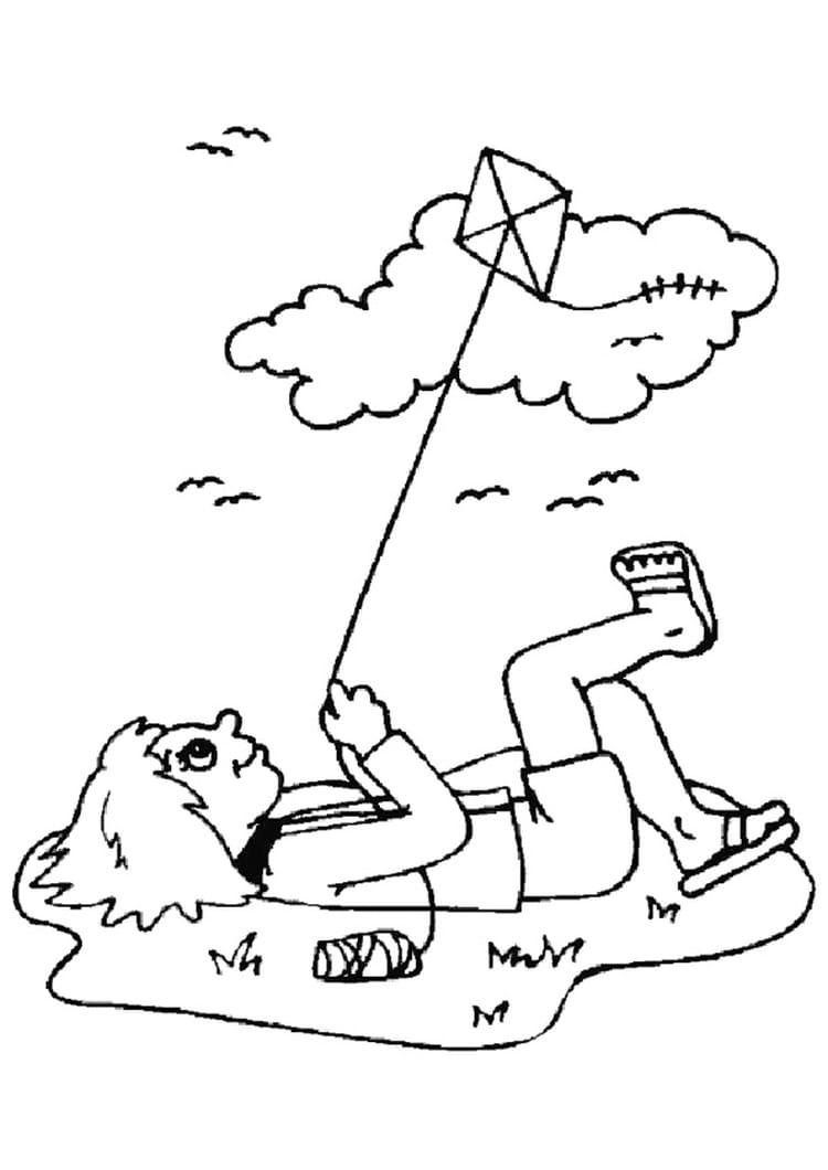 Du cerf volant 12 coloriages pour occuper les enfants - Dessin volant ...