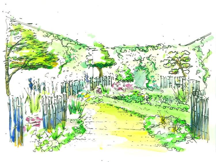 le croquis propos par opus paysage un mini jardin de