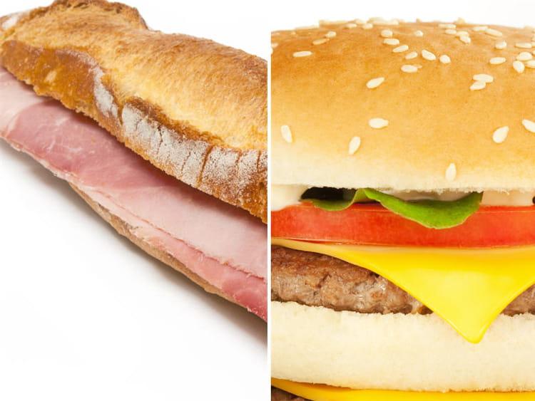 sandwich jambon beurre ou hamburger match des calories faites le bon choix journal des. Black Bedroom Furniture Sets. Home Design Ideas