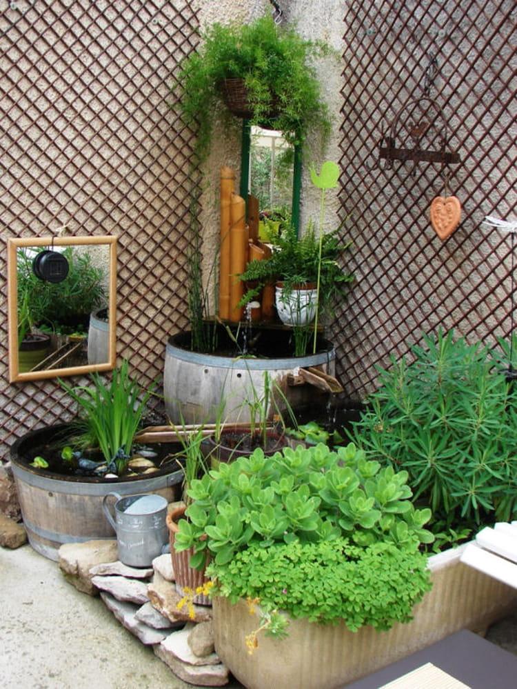 Bien tre sur la terrasse des fontaines pour rafra chir votre jardin jour - Fontaine pour terrasse ...