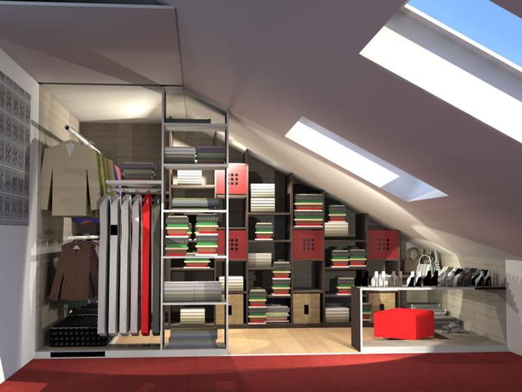 dressing dans les combles dressing sous combles with dressing dans les combles perfect zoom. Black Bedroom Furniture Sets. Home Design Ideas