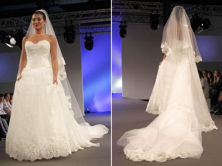 robe de mari e l 39 empire du mariage grand salon du mariage 2014 le d fil des robes de mari e. Black Bedroom Furniture Sets. Home Design Ideas