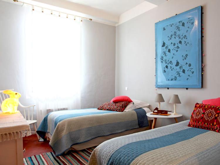 Couleur Peinture Volets Bois : Design Idées chambre jumeaux deco  Des lits jumeaux Chambre d amis