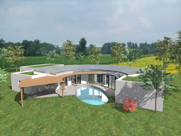 Maison en courbes 10 super maisons d 39 archi modernes for Maison super moderne