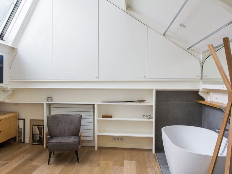 Fotos salle de bain loft sous les toits - Salle de bain sous les toits ...