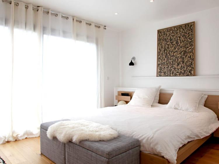Carrelage Sol Salle De Bain Beige : Style scandinave  Chambre blanche  40 idées pour une déco fraîche