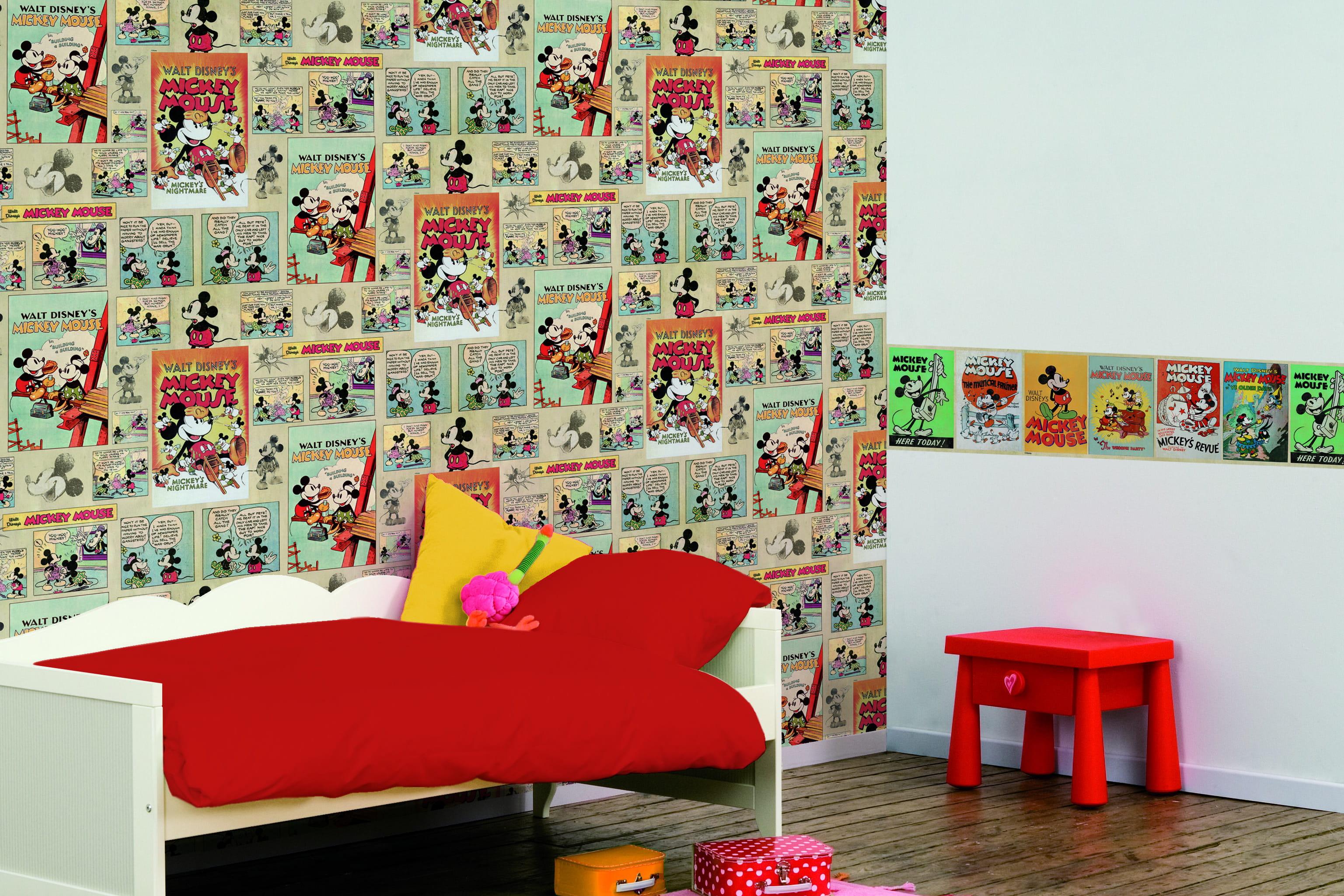 Chambre d 39 enfant les tendances papier peint et tissu - Decoration maison avec papier peint ...