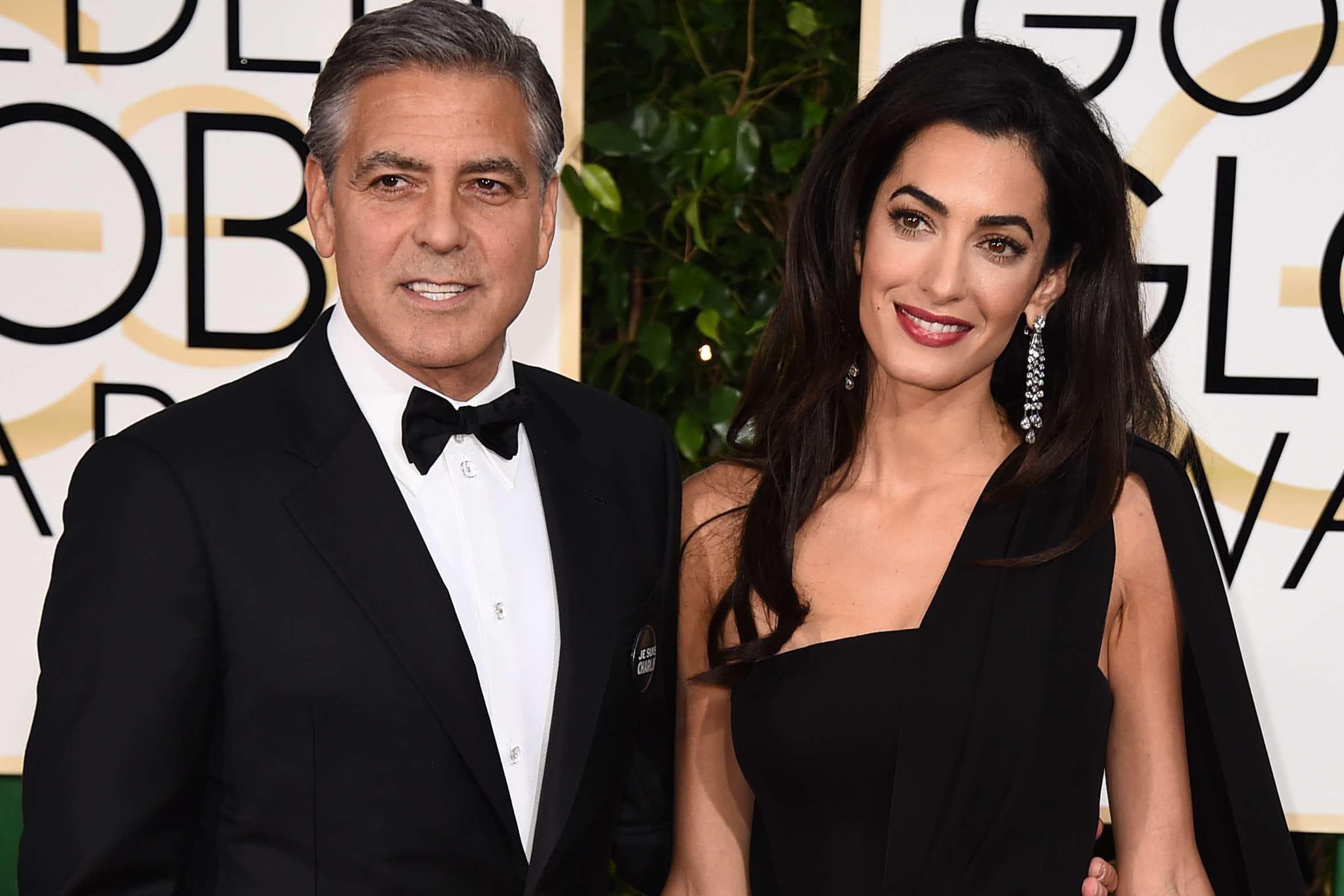 George et Amal Clooney...