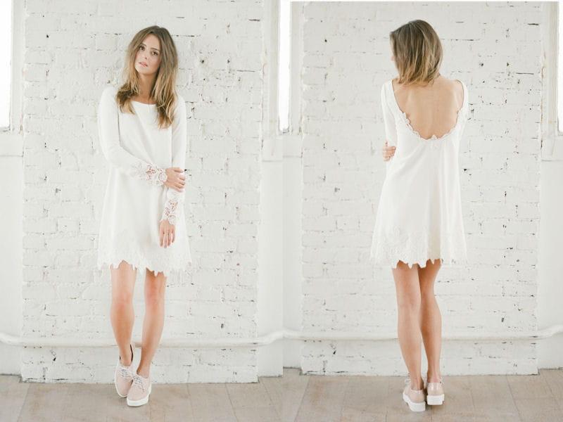 Rime arodaky on craque pour sa collection de robes de for Robe blanche pour mariage civil