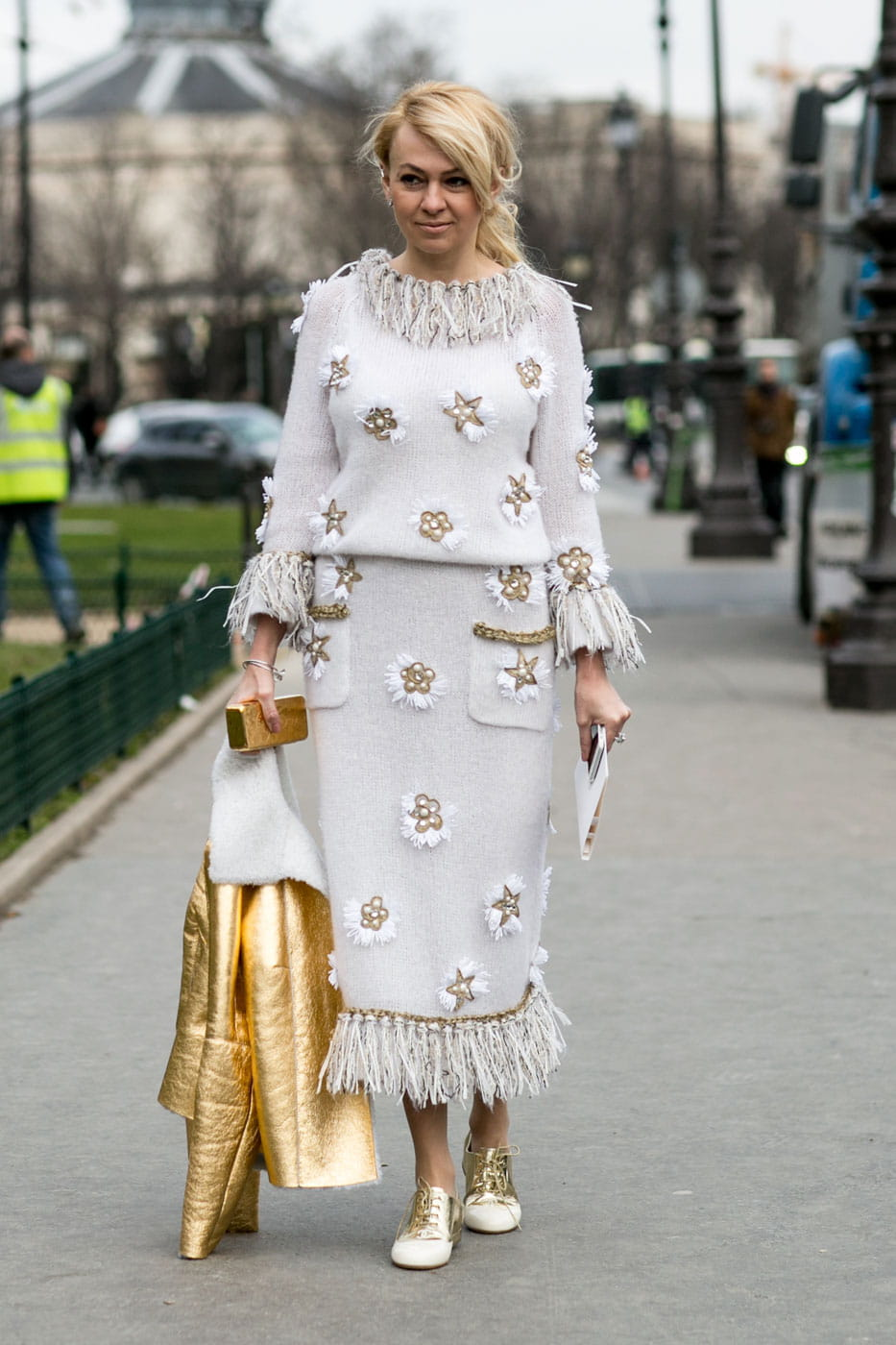 Street Style D Fil S Haute Couture Golden Haute Couture Printemps T 2015 Street Style