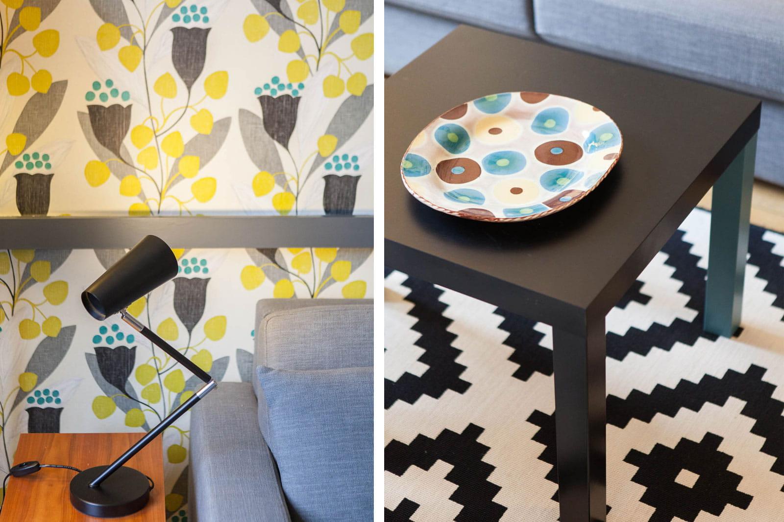 Des motifs graphiques et color s un petit bureau transform en coquet studi - Studio petit journal ...