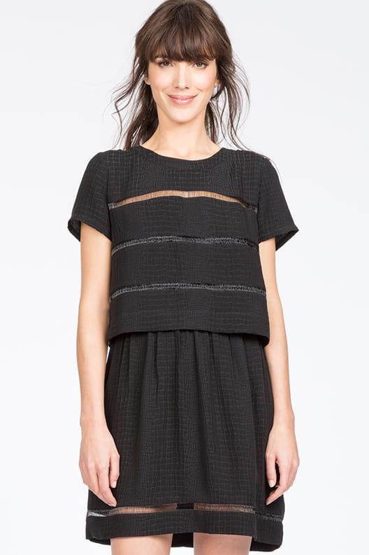 Robe noire de comptoir des cotonniers look s duisant pour rendez vous galant journal des femmes - Comptoir des cotonniers paris stores ...